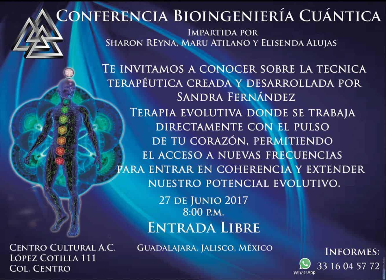 Conferencia Bioingeniería Cuántica, Jalisco – MÉXICO. 27 de junio @ CENTRO CULTURAL A.C.