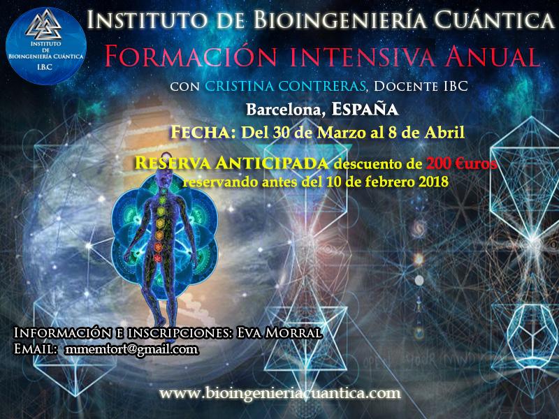 Formación Intensiva Anual con Cristina Contreras en Barcelona 30 Mar al 8 de Abr 2018 @ Barcelona | Cataluña | España