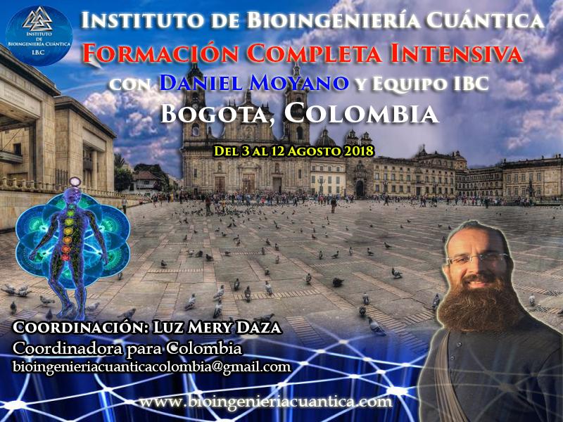 Formación Intensiva Terapeutas con Daniel Moyano  del 3 al 12 agosto 2018. Bogota, COLOMBIA