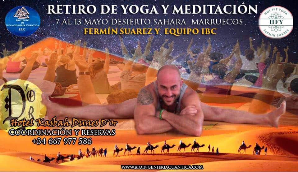 Retiro de Meditación y Yoga en el desierto del Sahara – MARRUECOS del 7 al 13 mayo 2018 @ Hotel kasbah Dunes D´Or