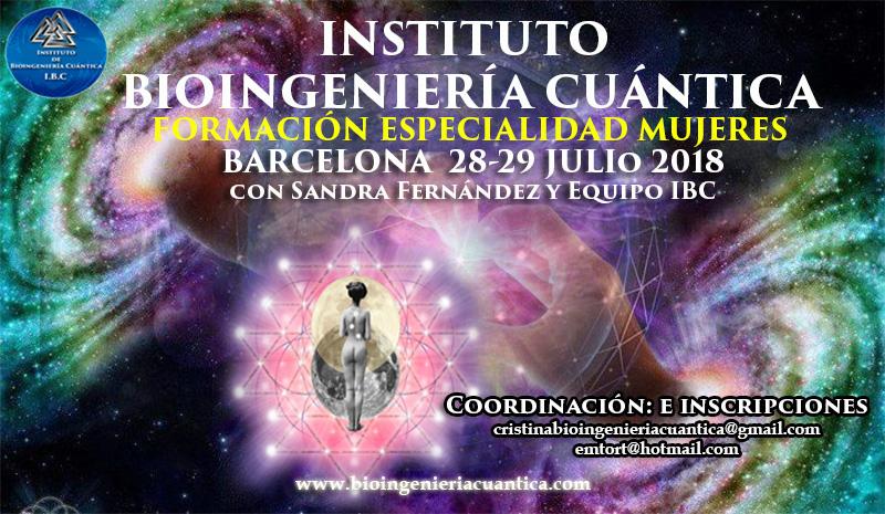 Formación Intensiva para la Mujer con Sandra Fernández  28 y 29 julio 2018 en Barcelona @ VIDA KINESIOLOGIA