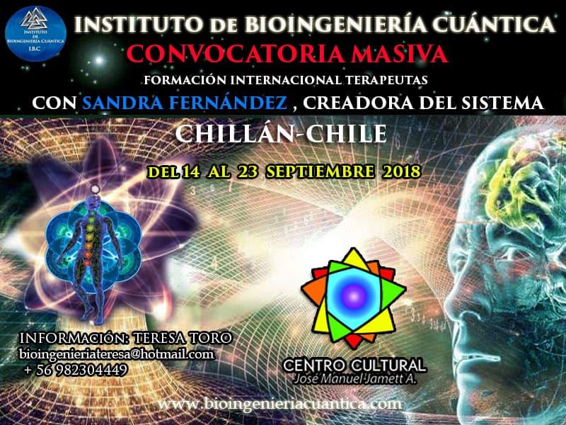 Iª Convocatoria Masiva Internacional de Bioingeniería Cuántica  del 14 al 23 sep 2018 en CHILE @ Chillan | Región del Bío Bío | Chile