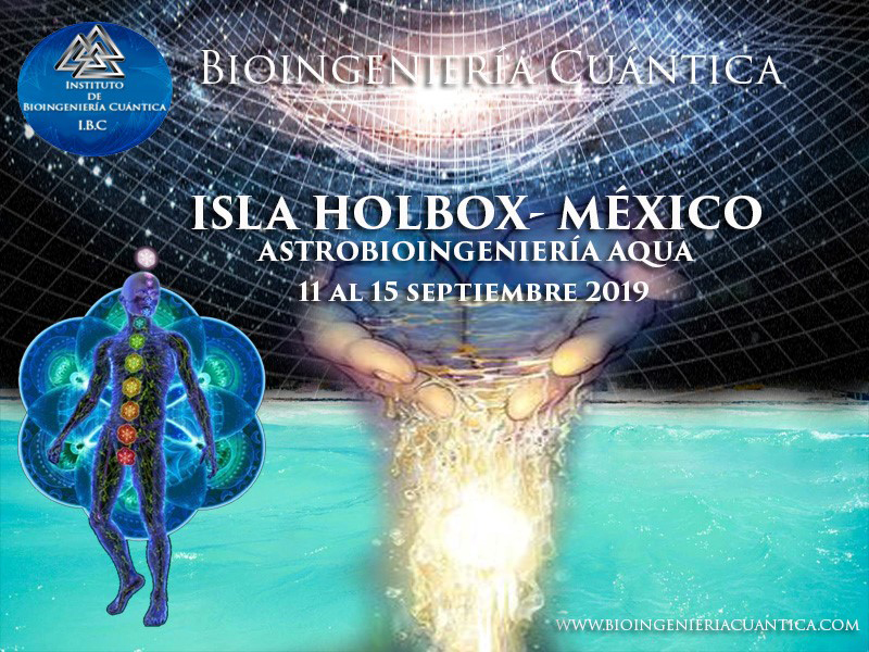 Especialidad Agua-Astrobioingeniería con Sandra Fernández y Profesorado del Equipo IBC, del 11 al 15 septiembre 2019 en Isla de Holbox, MÉXICO