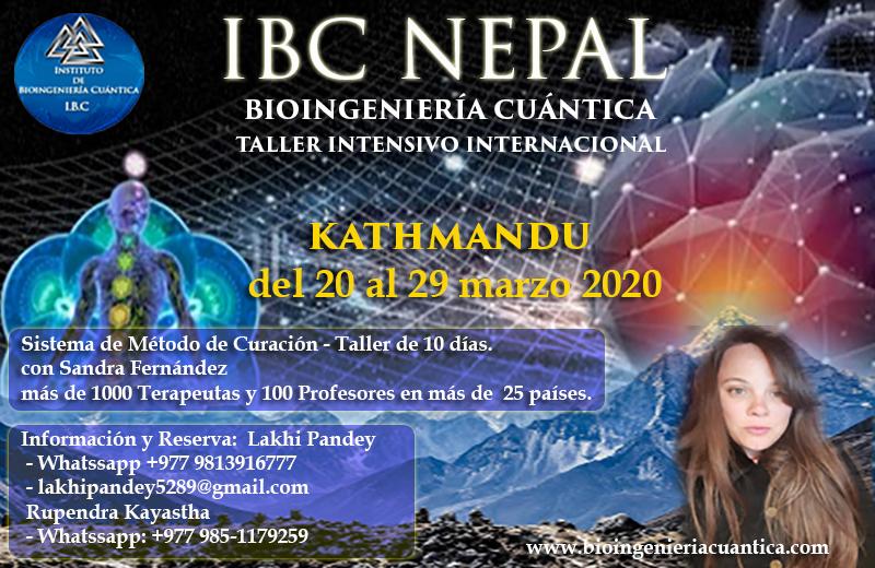 Convocatoria Masiva Internacional con Sandra Fernández y Equipo IBC del 20 al 29 de marzo 2020 en Kathmandú, NEPAL