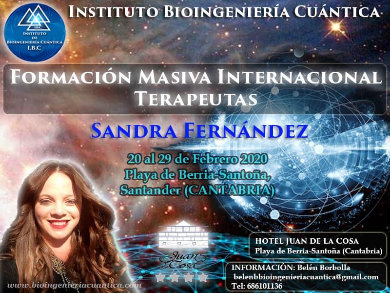 Convocatoria Masiva Internacional con Sandra Fernández y Equipo IBC del 20 al 29 de febrero 2020 en Santander, ESPAÑA