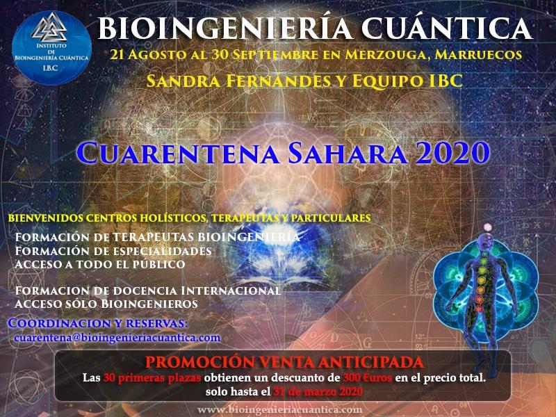 Cuarentena en el Desierto. con Sandra Fernández y Equipo IBC, del 21 de agosto al 30 de septiembre 2020. Merzouga, MARRUECOS