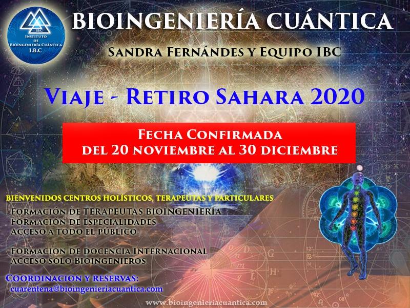 Viaje y Retiro en el Desierto. con Sandra Fernández y Equipo IBC, del 20 noviembre al 30 diciembre 2020. Merzouga, MARRUECOS